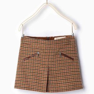 *NEW* Zara checkered skirt (Girls, 11/12)